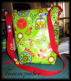 Make your own Hippie-Bag...  Complete Tutorial at Traumzauber ;-) with oilcloth