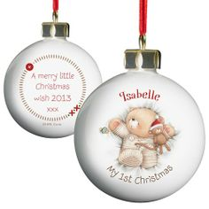 Personalised Forever Friends Bauble - My 1st Christmas  from Personalised Gifts Shop - ONLY £10.99