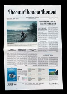 Brilliant way to announce you've gone digital.... NZZ: Binary Code