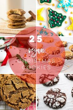Discover 25 delicious vegan Christmas cookie recipes! From classics like sugar cookies and gingerbread, to modern favorites like chai snickerdoodles, this list has something that will make everyone merry and bright! #veganchristmascookies #christmascookies #veganchristmas | Mindful Avocado Vegan Gingerbread Cookies, Vegan Pumpkin Cookies, Pumpkin Cookie Recipe, Cookie Recipes, Vegan Ginger Cookies Recipe, Chewy Ginger Cookies, Soft Sugar Cookies, Vegan Christmas Dinner, Vegan Christmas Cookies
