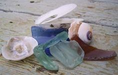 Collection of seaglass from Harper, WA
