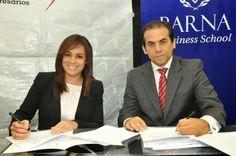 Armario de Noticias: ANJE Y BARNA BUSINESS SCHOOL FIRMAN ACUERDO.-
