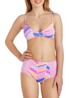 Get Your Flutter Kicks Swimsuit Bottom in Pattern, #ModCloth