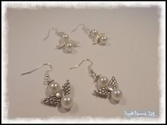 Angel earrings - simple and great to wear at xmas