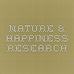 Nature & Happiness Research