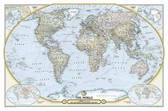 National Geographic - National Geographic 125th Anniversary World Map Map Juliste