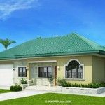 This one storey Bungalow House with 3 bedrooms is 127 square meters in floor area which can be built in. Single Storey House Plans, 3 Bedroom Floor Plan, Spanish Design, Roof Trusses, Bungalows, Brick, Bedrooms, Floor Plans, Farmhouse
