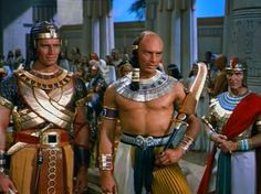 1956 - Color - THE TEN COMMANDMENTS, starring Charleton Heston as Moses; and Yul Brenner as Ramses