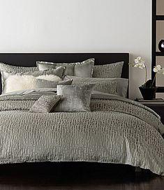 donna karan fuse metallic geometric sateen comforter
