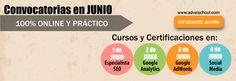Junio: Cursos Google AdWords, Analytics, Social Media y SEO Online. Infórmate Aquí! https://docs.google.com/a/adveischool.com/forms/d/1IPL4AO-Fg_9eHS2DsZbvAlw61hrZSoqlACEEsSGY_7Y/viewform
