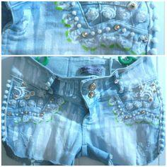 Calça que se tornou short, customizada.