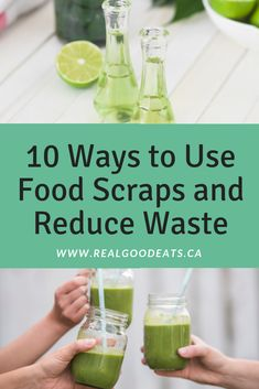 Get more out of your food by repurposing the scraps! We share 10 ways that you can use food scraps and reduce waste. Food Tips, Food Hacks, A Food, Stir Fry Recipes, Healthy Recipes, Apple Tea, How To Make Pesto, Infused Oils, Reduce Waste