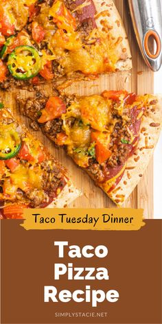 A flavor fiesta in your mouth with this delicious Taco Pizza recipe!