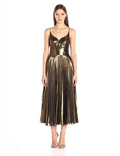 Dress to impress in this Nicole Miller Disco Starburst Pleated Dress