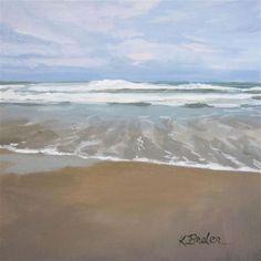 """""""Ocean"""" - Original Fine Art for Sale - © Kaethe Bealer"""
