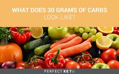 The guide for ketosis is stay under 30 grams of carbs...but what does 30g look like? Develop your intuition for health foods and sweets alike!