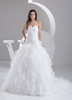 Dressilyme Princess Satin Sweetheart Summer Court Train Wedding Dress  http://www.yearofstyle.com/dressilyme-princess-satin-sweetheart-summer-court-train-wedding-dress/