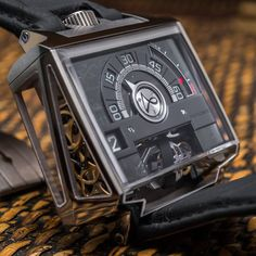 It's the latest release from Hautlence, called the Vortex and officially debuted today! 552 component movement with a cool jumping hour and retrograde minutes indication, and an escapement that is rotated 60 degrees at the end of every hour.