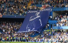 A huge banner describing Terry as 'proper Chels' was on show at the Bridge on the last day of the season