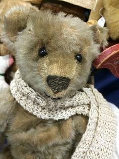 "13"" Antique Steiff Teddy Bear Light Gold Color"