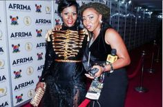 DESIRE LUZINDA At Afrima Awards Red Carpet Lagos, Nigeria -Uganda's famous female musician and fashion star, was one of the few celebs who were dressed