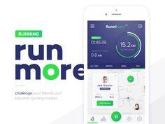 Runninator Mobile App by PrimeModule Studio #Design Popular #Dribbble #shots
