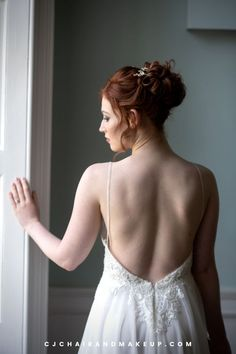 This updo wedding haistyle is perfect for elegant and romantic themed wedding! Looking for Professional Hair and Makeup Artist in Buckinghamshire, UK? Click to learn more!