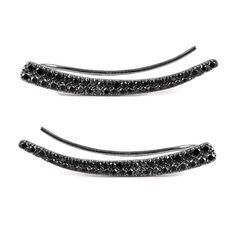 Black Diamond Ear Cuffs – Meira T Boutique www.meiratboutique.com