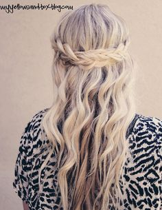 I love braided crowns. But only if you wear your hair open with it