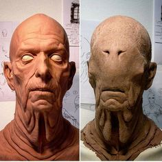 Repost from David Marti with the first and last concept for the pale man. Sculpted by artist Arjen Tuiten for Guillermo Del Toro's Pans Labyrinth. Pan's Labyrinth Pale Man, Pan's Labyrinth Movie, Male Makeup, Sfx Makeup, 3d Character, Character Design, Greek Mythological Creatures, Oil Based Clay, Occult Science