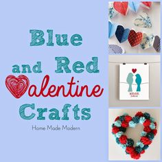 Blue and Red Valentine Decorations
