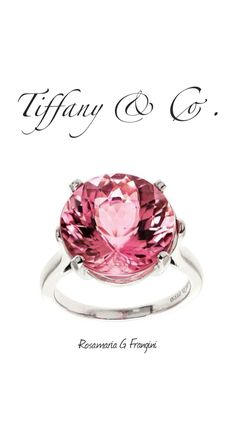 Rosamaria G Frangini | High Pink Jewellery | Tiffany Natural 8.59ct Certified Pink Tourmaline Platinum Ring.