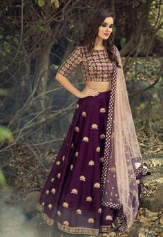 Purple Party Wear Lehenga Choli Textile Mall Textile Now at TextileMall. Indian Lehenga, Lehenga Gown, Party Wear Lehenga, Bridal Lehenga Choli, Anarkali, Ghagra Choli, Wedding Chaniya Choli, Blue Lehenga, Net Lehenga