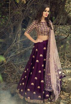 Purple Party Wear Lehenga Choli Textile Mall Textile Now at TextileMall. Blouse Lehenga, Lehenga Gown, Lehnga Dress, Party Wear Lehenga, Lengha Choli, Wedding Chaniya Choli, Lehenga Wedding, Net Lehenga, Lehenga Choli Online