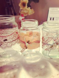 Also very easy and romantic DIY wedding decoration
