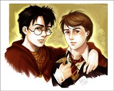 Boys of the prophecy by Linnpuzzle on DeviantArt Harry and Neville