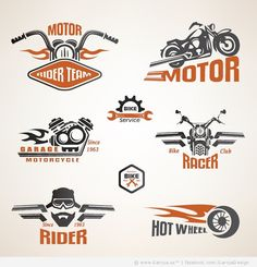 22 Motorcycle Logos and Labels Free Vectors
