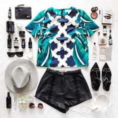 Bright shirts make every outfit pop! #flatlay #fashion #ootd