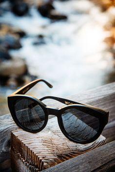 woodzee naomi - bamboo round oversized sunglasses