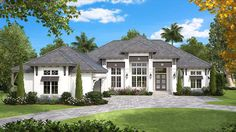 Luxurious Florida House Plan - 66358WE | 1st Floor Master Suite, Butler Walk-in Pantry, Den-Office-Library-Study, Florida, Southern, Split Bedrooms | Architectural Designs