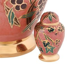 Birds & Blossoms Keepsake Urn in Pink | Available at Stardust Memorials