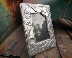 Mexican Pewter Picture Frame (Just Over 3x5) Tabletop Silver Tone Decorative Photo Frame w/ Glass 90 Day Plan, Silver Picture Frames, Vertical Or Horizontal, Hacienda Style, Spanish Style, North Africa, Bookends, How To Find Out, Etsy Seller