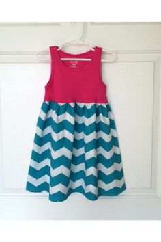Tank top with fabric at bottom for little girls' sundress. Simple sewing group project?