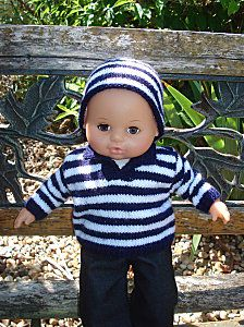 Pull et bonnet poupon 40cm Pull Crochet, Pull Bebe, Baby Dolls, Blog, Outfits, Free, Chiffons, Garance, Alphabet