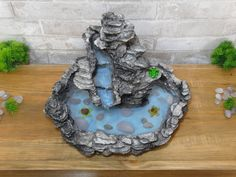 Diy Water Fountain, Garden Water Fountains, Water Garden, Modern Water Feature, Water Effect, Water Features, Portal, Biscuit, Miniatures