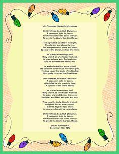 Treasure Box Poetry And Praise: Oh Christmas, Beautiful Christmas