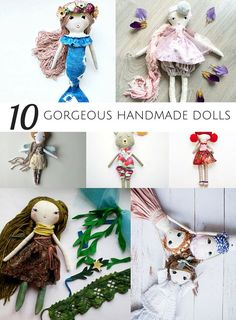 10 Gorgeous HandmadeDolls from Etsy. These beautiful dolls make special handmade toys for kids they will cherish for years to come.
