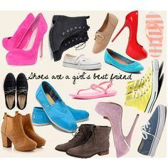 """Shoes are a girl's best friend"" by zoe15598 on Polyvore"
