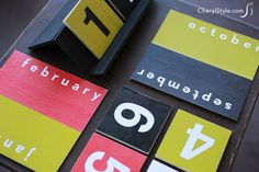 This perpetual DIY desktop calendar is easy to make and meant to last