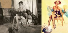 Pin up illustrations and the photos they were replicating!